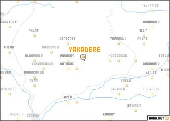map of Yakadere