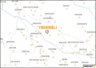 map of Yākhī Mālī