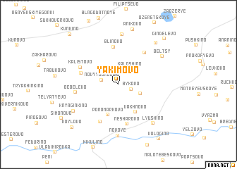 map of Yakimovo
