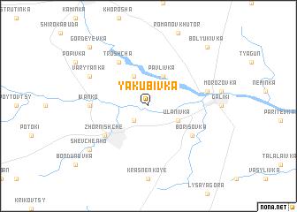 map of Yakubivka