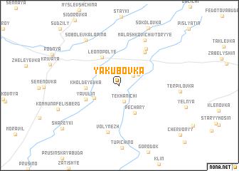 map of Yakubovka