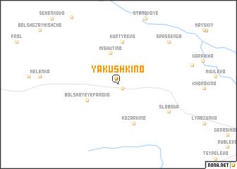 map of Yakushkino