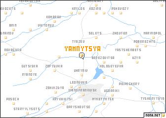 map of Yamnytsya
