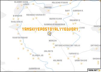 map of Yamskiye Postoyalyye Dvory