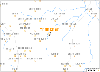 map of Yanacasa