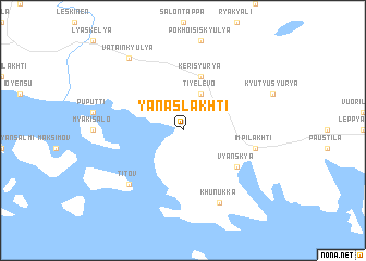 map of Yanaslakhti