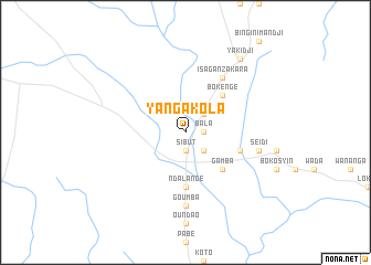 map of Yangakola