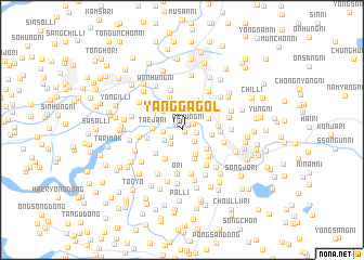 map of Yangga-gol