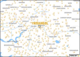 map of Yangga-gol