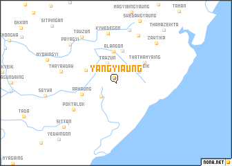 map of Yangyi-aung