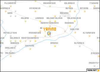 map of Yanino