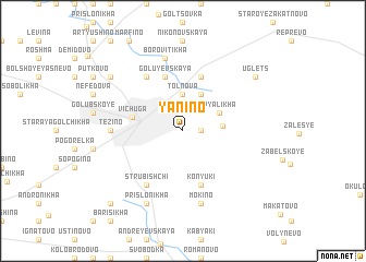 map of Yanino