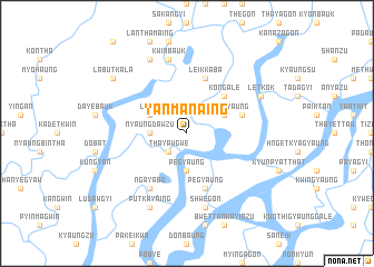 map of Yanmanaing