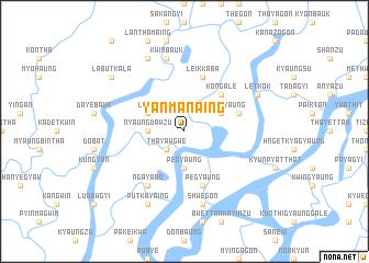 map of Yanmanaing