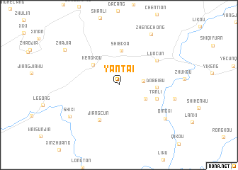 Yantai China Map Nonanet - Yantai map