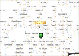 Yaound Cameroon map nonanet