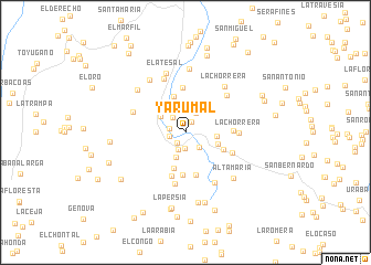 map of Yarumal