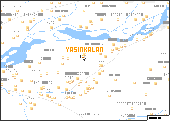 map of Yāsin Kalān