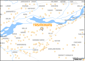 map of Yāsīn Khurd