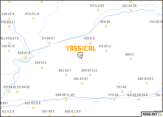 map of Yassıçal