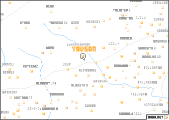 map of Yavşan