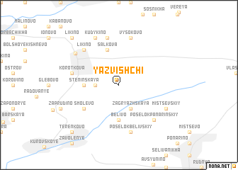 map of Yazvishchi