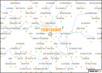 map of Yebyukhin