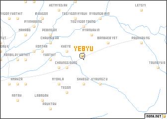 map of Yebyu