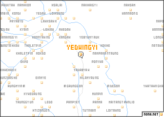 map of Yedwingyi