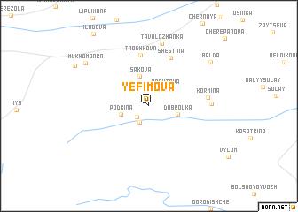 map of Yefimova