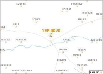 map of Yefimovo