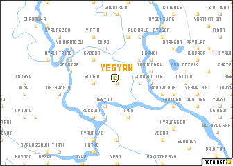 map of Yegyaw