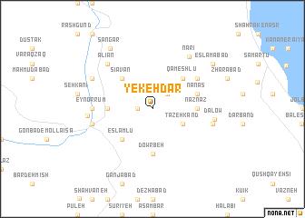 map of Yekeh Dar