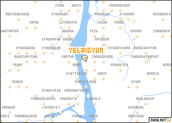map of Yelaigyun