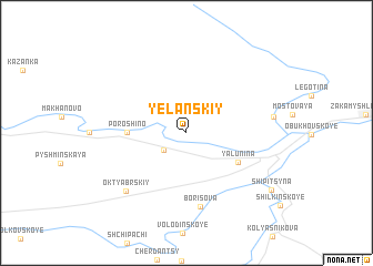 map of Yelanskiy