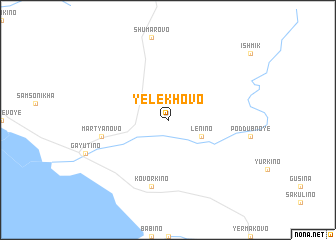 map of Yelekhovo