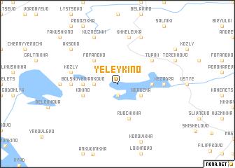map of Yeleykino
