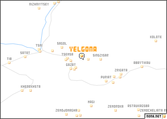 map of Yelgona