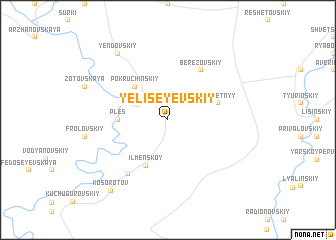 map of Yeliseyevskiy