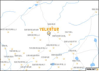 map of Yelkatūr