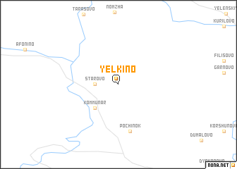 map of Yëlkino