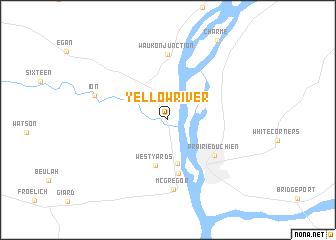 Yellow River United States USA Map Nonanet - Iowa in usa map