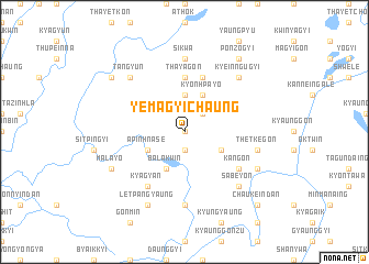 map of Yemagyichaung