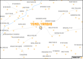 map of Yemel\