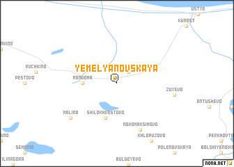 map of Yemel\