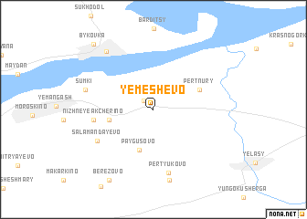 map of Yemeshevo