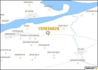 map of Yemeshevo