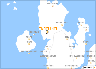 map of Yemyitkyi