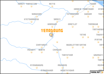 map of Yenadaung
