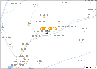 map of Yenikǝnd